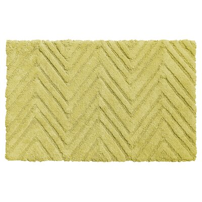 Eldridge Chevron Weave 100% Cotton Bath Mat Color: Citron