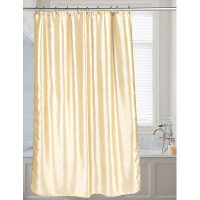 Shimmer Faux Silk Shower Curtain Color: Ivory