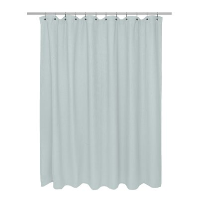 Waffle Weave 100% Polyester Shower Curtain Color: Spa Blue
