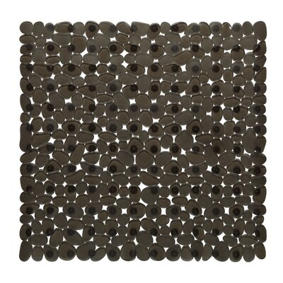 Margarete Vinyl Bath Mat Color: Natural / Black