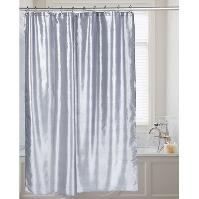 Shimmer Faux Silk Shower Curtain Color: Pewter