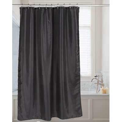 Highgate Faux Silk Shower Curtain Color: Black