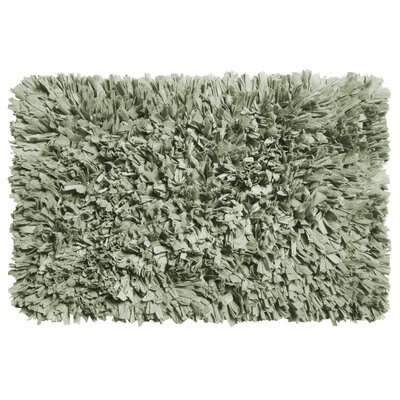 Garlen Cotton/Polyester Bath Mat Color: Spa Blue