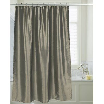 Shimmer Faux Silk Shower Curtain Color: Sage