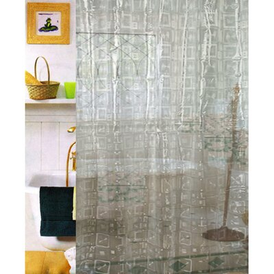 Vinyl Geo 3D Shower Curtain