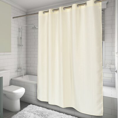 EZ-ON Waffle Weave Shower Curtain Color: Ivory
