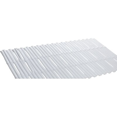 Bamboo Look Vinyl Bath Tub Mat Color: White
