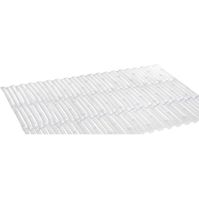 Bamboo Rayon Look Vinyl Bath Tub Mat Color: Clear