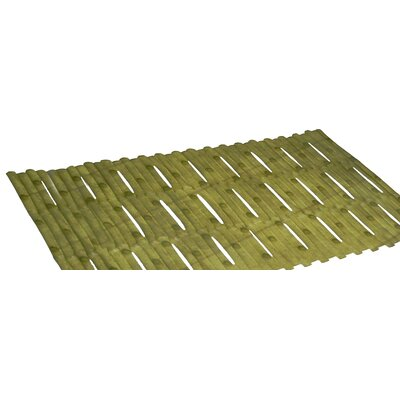 Bamboo Look Vinyl Bath Tub Mat Color: Green