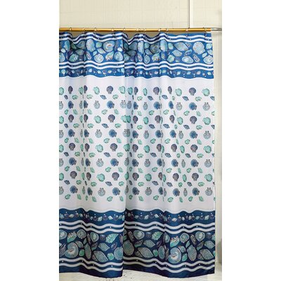 South Beach Shower Curtain Color: Blue