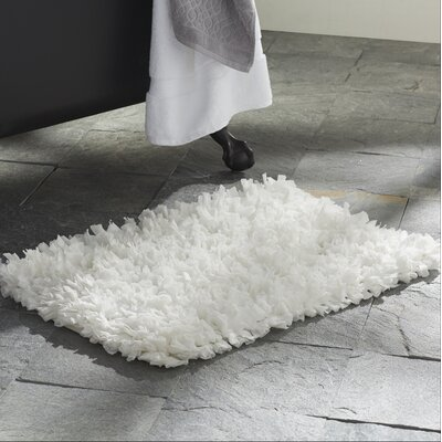 Ferrer Cotton/Polyester Bath Mat Color: White