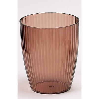 Brown Ribbed Acrylic Waste Basket BA-ABR/WB
