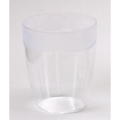 Clear Acrylic Waste Basket with Frost Trim BA-AFR/WB