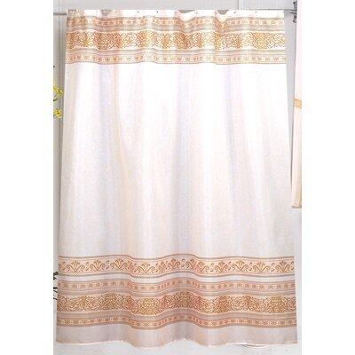 Fleur Shower Curtain Color: Gold