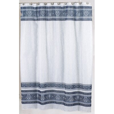 Fleur Shower Curtain Color: Silver