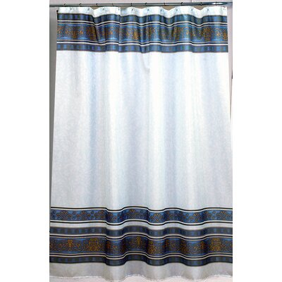 Buy Low Price Carnation Home Fashions Fleur 100 Polyester Fabric Shower Curtain Color Slate