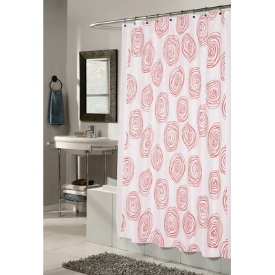 Lucerne Shower Curtain Color: White and Red