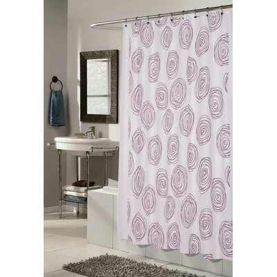 Lucerne Shower Curtain Color: White and Magenta