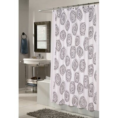 Lucerne Shower Curtain Color: White and Black