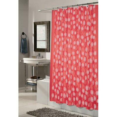 Vienna Shower Curtain Color: Red and White