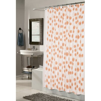 Vienna Shower Curtain Color: Ivory and Tangerine