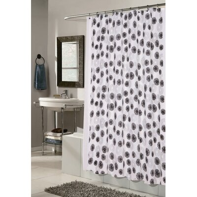 Vienna Shower Curtain Color: White and Black