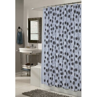 Vienna Shower Curtain Color: Blue and Black