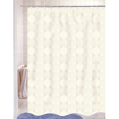 Burketown Jacquard Shower Curtain Color: Ivory