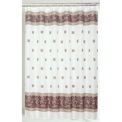 Carnation Home Fashions Windsor Polyester Shower Curtain - Color: Brown at Sears.com