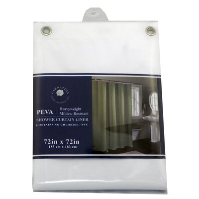 PEVA Shower Curtain Liner Color: White