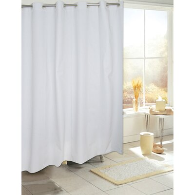 Ez On PEVA Shower Curtain Color: White