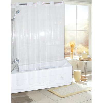 Ez On PEVA Shower Curtain Color: Super Clear