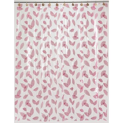 Vinyl Autumn Leaves Shower Curtain Color: Burgundy