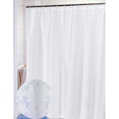 Buy Low Price Carnation Home Fashions Damask 100 Polyester Fabric Shower Curtain Color White