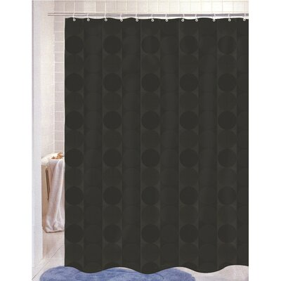 Burketown Jacquard Shower Curtain Color: Black