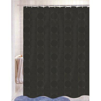 Carnation Home Fashions Jacquard Shower Curtain - Color: Black