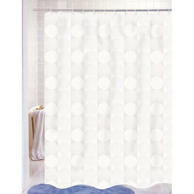 Burketown Jacquard Shower Curtain Color: White