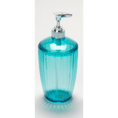Acrylic Ribbed Lotion Pump Color: Cerulean Blue BA-ARC/LO/80