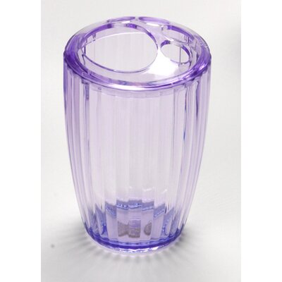 Acrylic Ribbed Toothbrush Holder Color: Magenta BA-AMR/TB/54