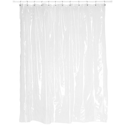 Vinyl 5 Gauge Shower Curtain Liner Color: Super Clear