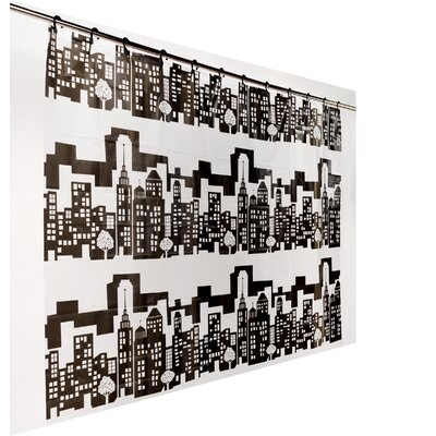 PEVA Cityscape Shower Curtain