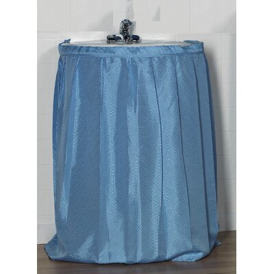 Esther 100% Polyester Dobby Sink Skirt Color: Light Blue