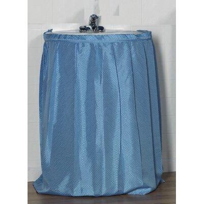 Lauren 100% Polyester Dobby Sink Skirt Color: Light Blue