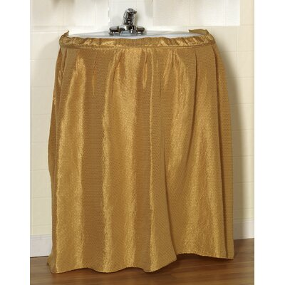 Lauren 100% Polyester Dobby Sink Skirt Color: Gold