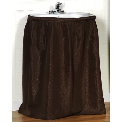Lauren 100% Polyester Dobby Sink Skirt Color: Brown