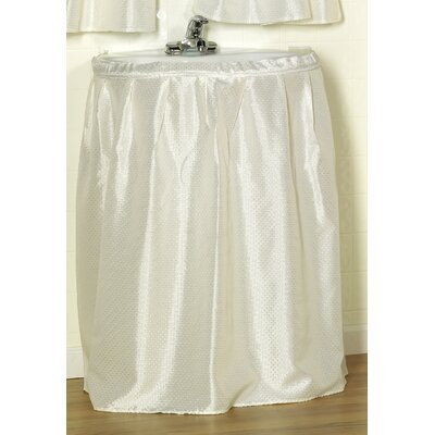 Esther 100% Polyester Dobby Sink Skirt Color: Ivory