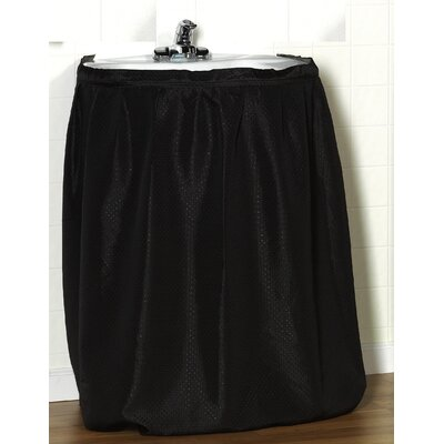 Lauren 100% Polyester Dobby Sink Skirt Color: Black