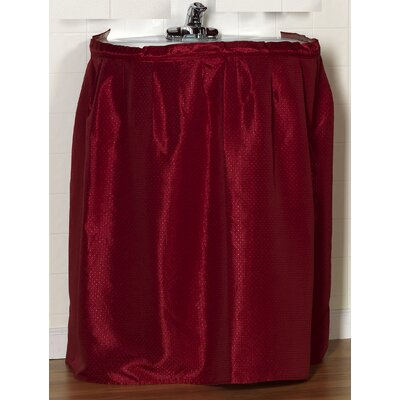 Esther 100% Polyester Dobby Sink Skirt Color: Burgundy