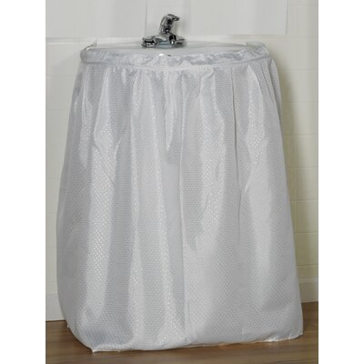 Esther 100% Polyester Dobby Sink Skirt Color: White