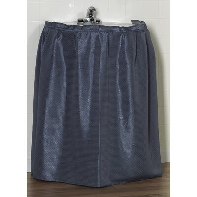 Lauren 100% Polyester Dobby Sink Skirt Color: Slate Blue